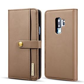 halpa Galaxy S -sarjan kotelot / kuoret-DG.MING Etui Käyttötarkoitus Samsung Galaxy S9 Plus Lomapkko / Korttikotelo / Tuella Suojakuori Yhtenäinen Kova PU-nahka varten S9 Plus