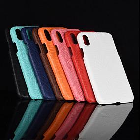 levne iPhone pouzdra-Carcasă Pro Apple iPhone XR / iPhone XS Max Matné Zadní kryt Jednobarevné Pevné PU kůže pro iPhone XS / iPhone XR / iPhone XS Max
