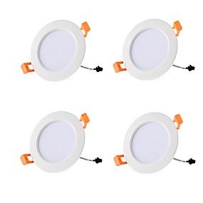 billige Downlights-4stk 7 W 700 lm 15 LED Perler Let Instalation Forsænket LED nedlys Varm hvid Kold hvid 85-265 V Kommercielt Hjem / kontor Stue / spisestue / RoHs / CE
