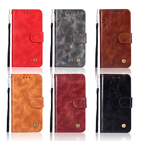 cheap Nokia-Case For Nokia Nokia 8 Sirocco / Nokia 5.1 Wallet / Card Holder / with Stand Full Body Cases Solid Colored Hard PU Leather for Nokia 8 Sirocco / Nokia 7 Plus / Nokia 6 2018