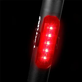 baratos Lanternas & Luminárias-LED Luzes de Bicicleta Luz Traseira Para Bicicleta Ciclismo de Montanha Ciclismo Impermeável Libertação Rápida Leve Bateria Li-on Recarregável 80 lm Vermelho Polícia / Militar Ciclismo / ABS