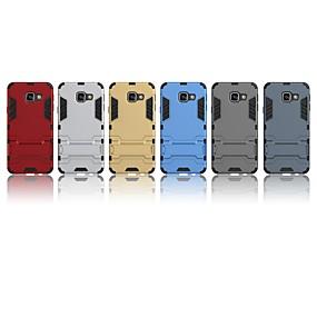 voordelige Galaxy A3(2016) Hoesjes / covers-hoesje Voor Samsung Galaxy A3(2016) Schokbestendig / met standaard Achterkant Effen Hard PC