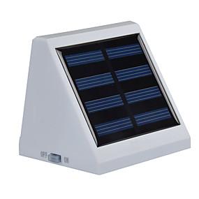 voordelige LED-verlichting op zonne-energie-1pc buiten zonne-energie 4 witte led muur tuinlandschap hek licht lamp