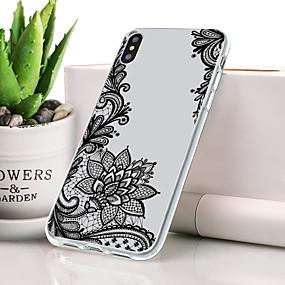 levne Pouzdra iPhone XS-Carcasă Pro Apple iPhone XS Prachuodolné / Ultra tenké / Vzor Zadní kryt Lace tisk Měkké TPU pro iPhone XS