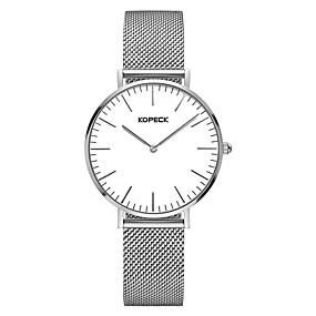 voordelige Merk Horloge-Kopeck Heren Dress horloge Digitaal horloge Japans Japanse quartz Roestvrij staal Zilver 30 m Waterbestendig Nieuw Design Vrijetijdshorloge Analoog Klassiek Informeel minimalistische - Zilver