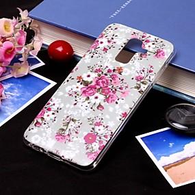 voordelige Galaxy J5(2017) Hoesjes / covers-hoesje Voor Samsung Galaxy J8 (2018) / J7 (2017) / J7 (2018) IMD / Doorzichtig Achterkant Bloem Zacht TPU