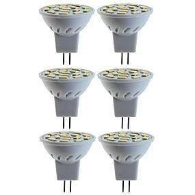 Недорогие Точечное LED освещение-SENCART 6шт 5 W 80 W Точечное LED освещение 260 lm MR11 MR11 15 Светодиодные бусины SMD 5060 Декоративная Тёплый белый Холодный белый 12 V