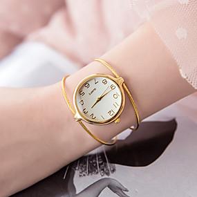 billige Smykker & Klokker-Dame Armbåndsur Quartz Sølv / Gylden Hverdagsklokke Analog damer Mote Minimalistisk - Sølv Gull