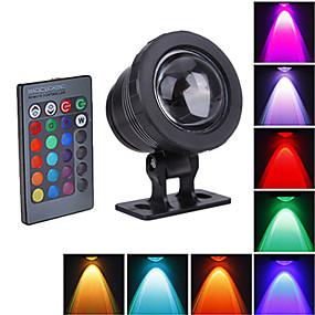 Недорогие LED прожекторы-1шт 10 W 800 lm Светодиодные бусины Водонепроницаемый RGB 12 V