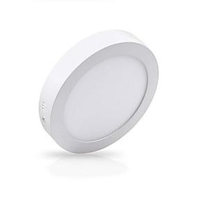 billige Downlights-zdm 12w 1000lm overflademontering LED taklampe rund flad led loftbelysningslængde kold hvid varm hvid ac85-265v kontor stue / spisestue kommerciel