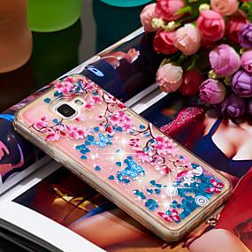 voordelige Galaxy A5(2016) Hoesjes / covers-hoesje Voor Samsung Galaxy A5(2016) Schokbestendig / Glitterglans Achterkant Glitterglans / Bloem Zacht TPU