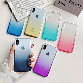 levne iPhone pouzdra-pouzdro pro Apple iphone xr xs xs max průsvitný zadní kryt barevný gradient měkký tpu pro iPhone x 8 8 plus 7 7plus 6s 6s plus se 5 5s