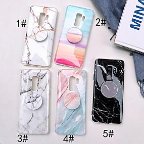 halpa Galaxy S -sarjan kotelot / kuoret-Etui Käyttötarkoitus Samsung Galaxy S9 Plus / S9 Tuella / IMD Takakuori Marble Pehmeä TPU varten S9 / S9 Plus / S8 Plus
