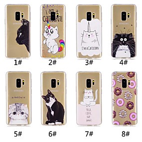 voordelige Galaxy S7 Hoesjes / covers-hoesje Voor Samsung Galaxy S9 / S9 Plus / S8 Plus Patroon Achterkant Kat / Voedsel / Cartoon Zacht TPU