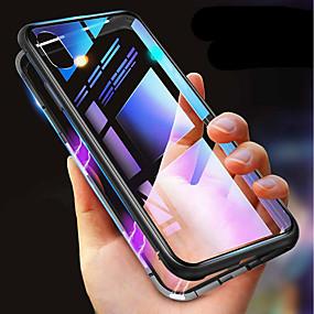 billige Cool & Fashion Cases til iPhone-taske til iphone xr xs xs max stødtætte gennemsigtige magnetiske tilfælde solid farvet hårdt hærdet glas til iphone x 8 8 plus 7 7plus 6s 6s plus se 5 5s