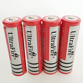 Χαμηλού Κόστους Φακοί, φανάρια και φωτιστικά-UltraFire BRC Λιθίου 18650 μπαταρία 4200 mAh 4pcs Επαναφορτιζόμενο για Φακός Φως ποδηλάτου Προβολείς Κυνήγι Αναρρίχηση Κατασκήνωση / Πεζοπορία / Εξερεύνηση Σπηλαίων