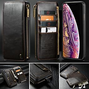 ieftine Carcase iPhone-casem case pentru iphone xr xs xs max portofel / suport card / cu suport solid colorate hard piele pu pentru iphone x 8 8 plus 7 7plus 6s 6s plus se 5 5s