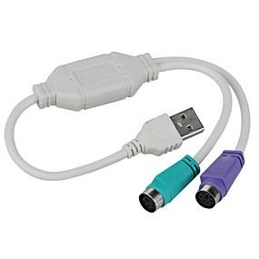 ieftine Gadget-uri USB-usb de sex masculin la PS / 2 PS2 convertizor de sex feminin cablu adaptor tastatură adaptor tastatură