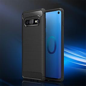 economico Custodie / cover per Galaxy serie S-Custodia Per Samsung Galaxy Galaxy S10 / Galaxy S10 Plus Resistente agli urti Integrale Tinta unita Morbido TPU per S9 / S9 Plus / S8 Plus