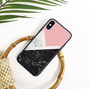 abordables Coques d'iPhone-Coque Pour Apple iPhone XR / iPhone XS Max Motif Coque Marbre Dur TPU / Acrylique pour iPhone XS / iPhone XR / iPhone XS Max