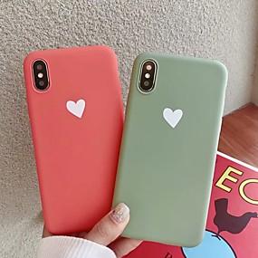 abordables Coques d'iPhone-Coque Pour Apple iPhone XS Max / iPhone 6 Dépoli Coque Cœur Flexible TPU pour iPhone XS / iPhone XR / iPhone XS Max