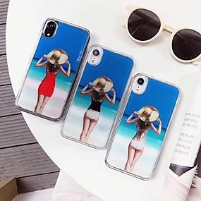 olcso Cool & Fashion tokok iPhone-hoz-Case Kompatibilitás Apple iPhone XS Max / iPhone 6 Csillogó Fekete tok Szexi lány Puha Szilikon mert iPhone XS / iPhone XR / iPhone XS Max