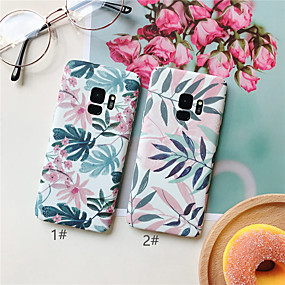 abordables Cool & Fashion Cases pour iPhone-Coque Pour Samsung Galaxy Galaxy S10 Plus / Galaxy S10 E Ultrafine / Motif Coque Plantes / Fleur Dur PC pour S9 / S9 Plus / S8 Plus