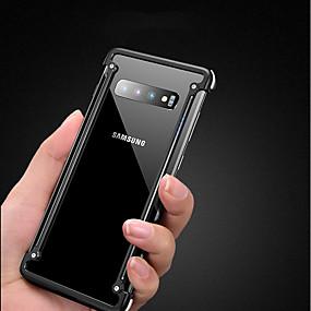 halpa Galaxy S -sarjan kotelot / kuoret-oatsbasf Etui Käyttötarkoitus Samsung Galaxy Galaxy S10 Plus Iskunkestävä / Ultraohut / Himmeä Puskuri Yhtenäinen Kova Aluminium varten Galaxy S10 Plus