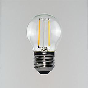 Χαμηλού Κόστους Λαμπτήρες LED με νήμα πυράκτωσης-1pc 2 W LED Λάμπες Πυράκτωσης 100-160 lm E26 / E27 2 LED χάντρες