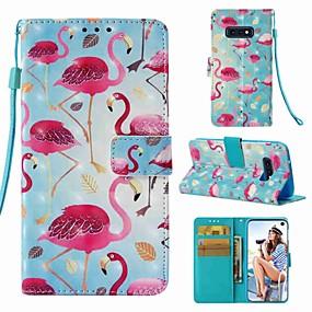 voordelige Galaxy S7 Hoesjes / covers-hoesje Voor Samsung Galaxy S9 / S9 Plus / S8 Plus Portemonnee / Kaarthouder / Flip Volledig hoesje Flamingo Hard PU-nahka