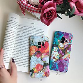 olcso Galaxy S tokok-Case Kompatibilitás Samsung Galaxy Galaxy S10 Plus / Galaxy S10 E Ultra-vékeny / Minta Fekete tok Virág Kemény PC mert S9 / S9 Plus / S8 Plus