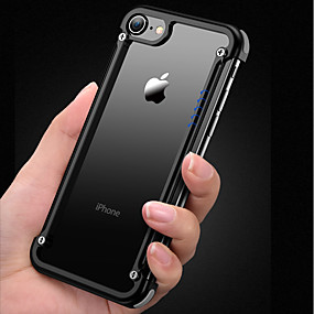 tanie Etui do iPhone-oatsbasf Kılıf Na Jabłko iPhone 8 / iPhone 7 Odporny na wstrząsy / Matowa / Zrób to Sam Ramka ochronna Solidne kolory Twardość Aluminium na iPhone 8 / iPhone 7