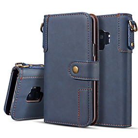 cheap Cases / Covers for Samsung-Case For Samsung Galaxy Galaxy S10 Plus / Galaxy S10 E Wallet / Flip / Magnetic Full Body Cases Solid Colored Hard PU Leather for S9 / S9 Plus / S8 Plus