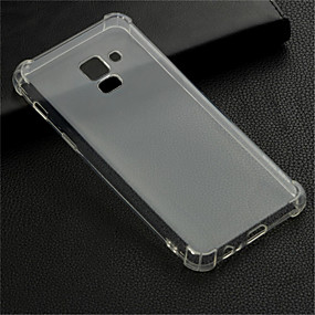 voordelige Galaxy A7(2016) Hoesjes / covers-hoesje Voor Samsung Galaxy A6 (2018) / A6+ (2018) / Galaxy A7(2018) Schokbestendig / Transparant Achterkant Transparant Zacht TPU