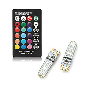billige Side Marker Lights-fjernbetjening bil interiør ledning vise bredt lys t10 lampe pære universelle auto interiør lampe lys