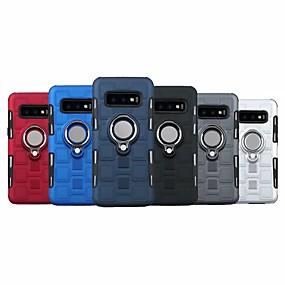 halpa Galaxy S -sarjan kotelot / kuoret-Nillkin Etui Käyttötarkoitus Samsung Galaxy Galaxy S10 / Galaxy S10 Plus Tuella / Sormuksen pidike Takakuori Panssari Kova Muovi varten S9 / S9 Plus / S8 Plus