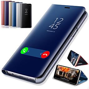 ieftine Accesorii Telefon Mobil-Maska Pentru Huawei Huawei Honor 8X Cu Stand / Placare / Oglindă Carcasă Telefon Mată Greu PU piele pentru Huawei Note 10 / Huawei Honor 10 / Huawei Honor 9 Lite