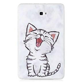 voordelige Galaxy Tab E 9.6 Hoesjes / covers-hoesje Voor Samsung Galaxy Tab E 9.6 / Tab A 10.1 (2016) Patroon Achterkant Kat Zacht TPU