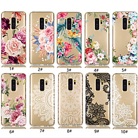 cheap Cases / Covers for Samsung-Case For Samsung Galaxy Galaxy S10 Plus / Galaxy S10 E Transparent / Pattern Back Cover Flower Soft TPU for S9 / S9 Plus / S8 Plus