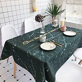 ieftine Fețe de masă-Contemporan Casual Bumbac fibră de poliester Pătrat Fețe de masă Cu model Vacanță Imprimare Ecologic Rezistent la Apă Decoratiuni de tabla