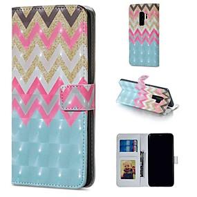 voordelige Galaxy S7 Edge Hoesjes / covers-hoesje Voor Samsung Galaxy S9 / S9 Plus / S8 Plus Portemonnee / Kaarthouder / met standaard Volledig hoesje Lijnen / golven Hard PU-nahka