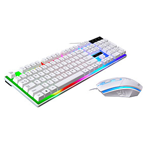 cheap Mouse Keyboard Combo-LITBest USB Wired Mouse Keyboard Combo Color Gradient / Backlit Gaming Keyboard Gaming / Waterproof Gaming Mouse 1600 dpi