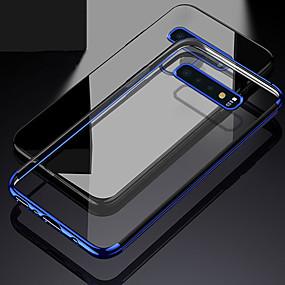 Χαμηλού Κόστους Θήκες / Καλύμματα Galaxy S Series-tok Για Samsung Galaxy Galaxy S10 / Galaxy S10 Plus Επιμεταλλωμένη / Διαφανής Πίσω Κάλυμμα Μονόχρωμο Μαλακή TPU για S9 / S9 Plus / S8 Plus