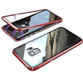halpa Samsung tarvikkeet-Etui Käyttötarkoitus Samsung Galaxy Galaxy S10 / Galaxy S10 Plus Magneetti Suojakuori Yhtenäinen Kova Karkaistu lasi varten S9 / S9 Plus / S8 Plus