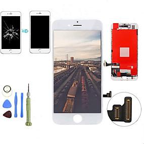 abordables Pièces de Rechange pour iPhone-2019 nouveau remplacement lcd affichage écran tactile digitizer assemblage panneau avant kit avec outils de désassemblage pour iphone 7 plus qyqfashion