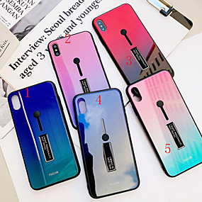 رخيصةأون أغطية أيفون-كفر حافظة لآبل iPhone xs max / iphone x غطاء خلفي رخام / لون متدرج أكريليك صلب لآيفون 6 / آيفون 6 بلس / آيفون 6s / 6splus / 7/8/7 زائد / 8 زائد / x / xs / xr / xs max