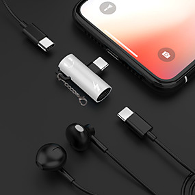 billige Lydkabel-2 i 1 hodetelefon musikkladning type-c 3,5 mm lydadapterkabel for Samsung Huawei Xiaomi Sony Htc Motorola ect.