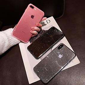halpa iPhone 8 kotelot-Etui Käyttötarkoitus Apple iPhone XS Max / iPhone 6 Kimmeltävä Takakuori Läpinäkyvä / Kimmeltävä Pehmeä TPU varten iPhone XS / iPhone XR / iPhone XS Max