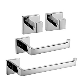 cheap Bathroom Gadgets-Bathroom Accessory Set New Design / Creative Contemporary / Traditional Stainless Steel / Stainless steel / Metal 4pcs - Bathroom Wall Mounted