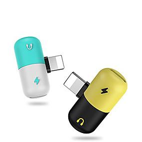 billige Apple-Belysning محول 1 til 2 Rustfritt stål USB-kabeladapter Til iPhone